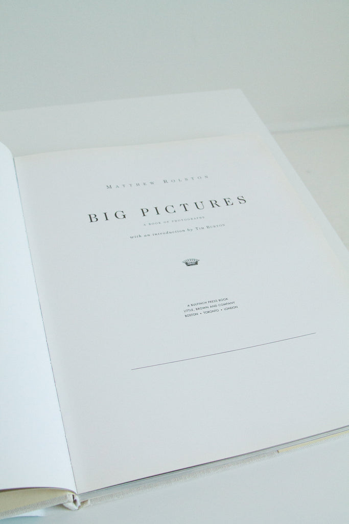 "Vintage 90s Matthew Rolston ""Big Pictures"" book"