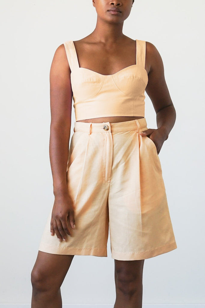 Lido Shorts in Apricot