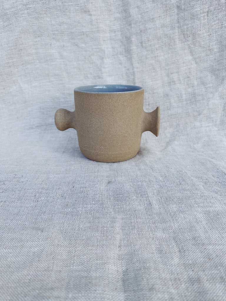 Double knob cup in Foggy Blue
