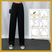 Ice Silk Wide Leg Pants Women - IBestGadgetis