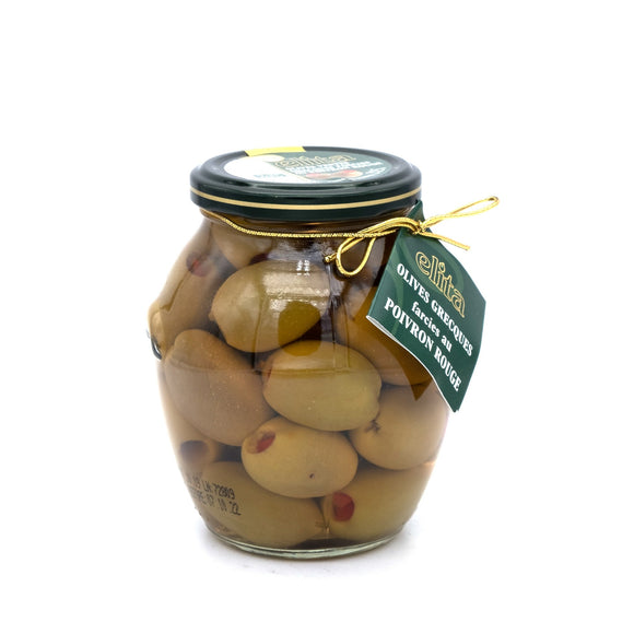 Olives Grecques Farcies au Poivron