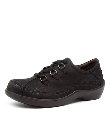 Women's Ziera Allsorts in Black Oregon Leather sku: ZR10017BT1AG