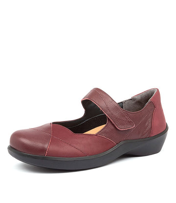 Women's Ziera Ariel in Dark Red Leather sku: ZR10021RANLE