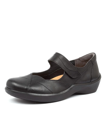 Women's Ziera Ariel in Black Leather sku: ZR10020BLALE
