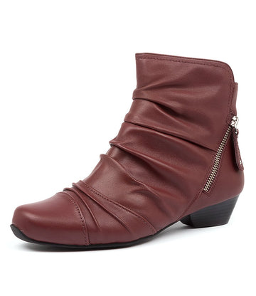 Women's Ziera Camryn in Dark Red Leather sku: ZR10022RANLE