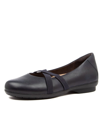 Women's Ziera Haven in Navy Leather sku: ZR10030DBYLE
