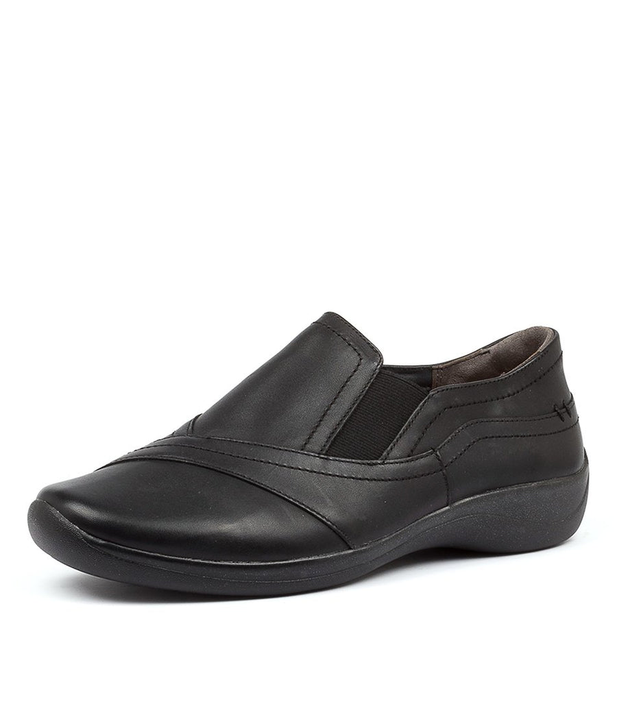 Women's Ziera Java in Black Leather sku: ZR10032BLALE
