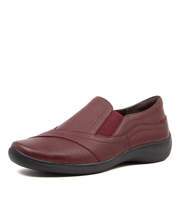 Women's Ziera Java in Dark Red Leather sku: ZR10032RANLE