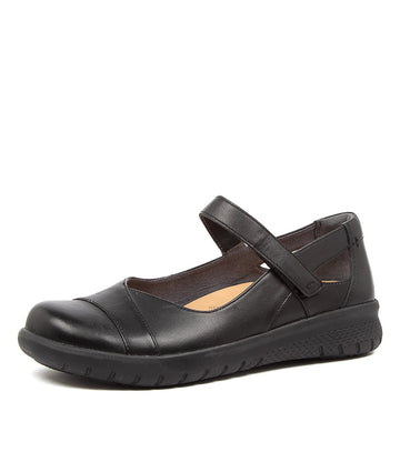 Women's Ziera Sofia in Black Leather sku: ZR10053BLALE