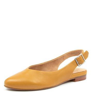 Women's Ziera Lisa in Mustard Leather sku: ZR10057Y35LE