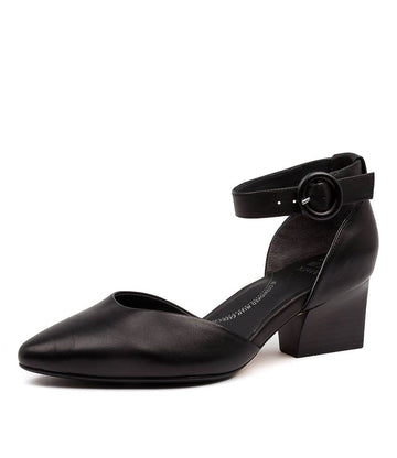 Women's Ziera Vanita in Black Leather sku: ZR10063BLALE