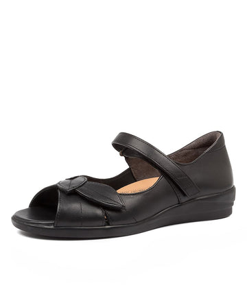 Women's Ziera Disco in Black Leather sku: ZR10067BLALE