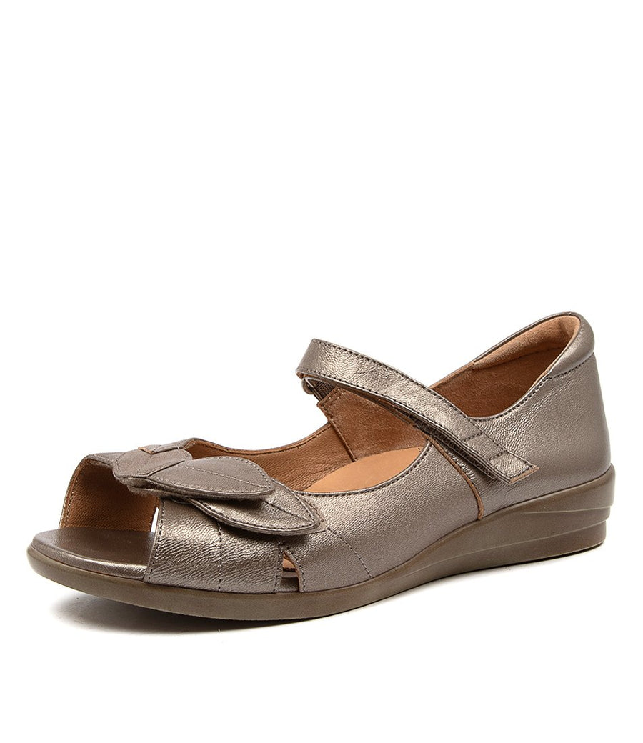 Women's Ziera Disco in Greige Leather sku: ZR10067NK6LE
