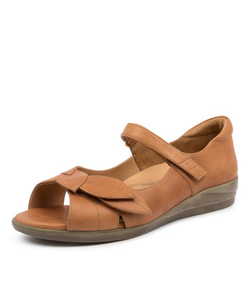 Women's Ziera Disco in Tan Leather sku: ZR10067TANLE