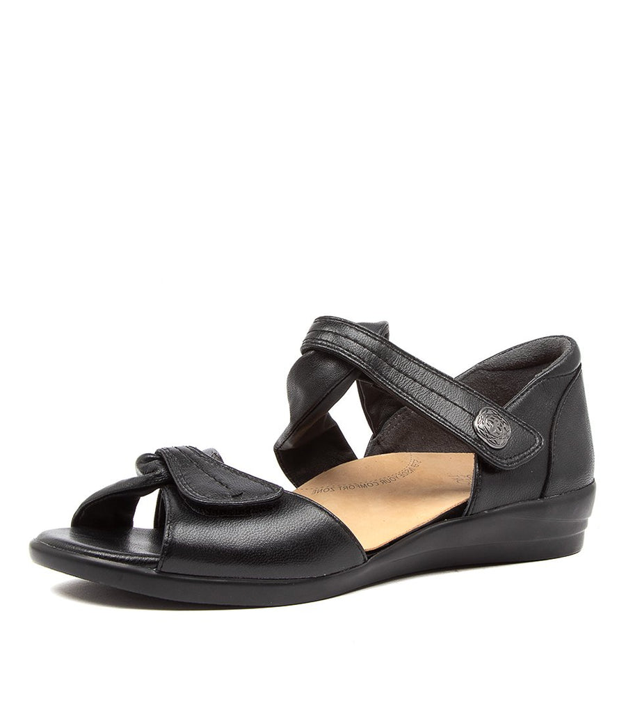 Women's Ziera Doxie in Black Leather sku: ZR10068BLALE