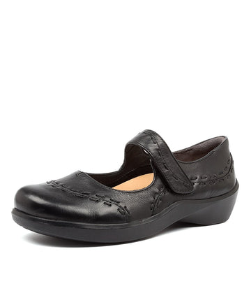 Women's Ziera Gummibear in Black Leather sku: ZR10029BLALE