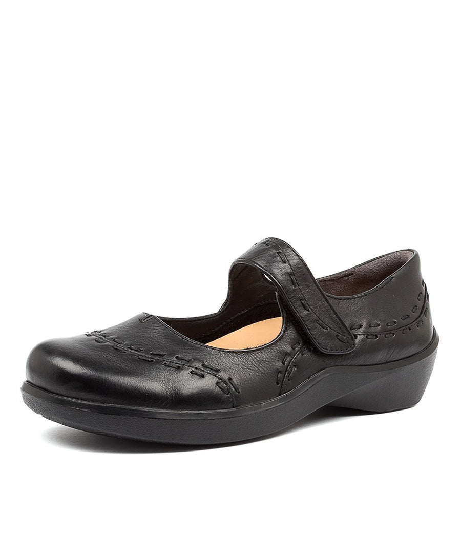 Women's Ziera Gummibear in Black Leather sku: ZR10070BLALE
