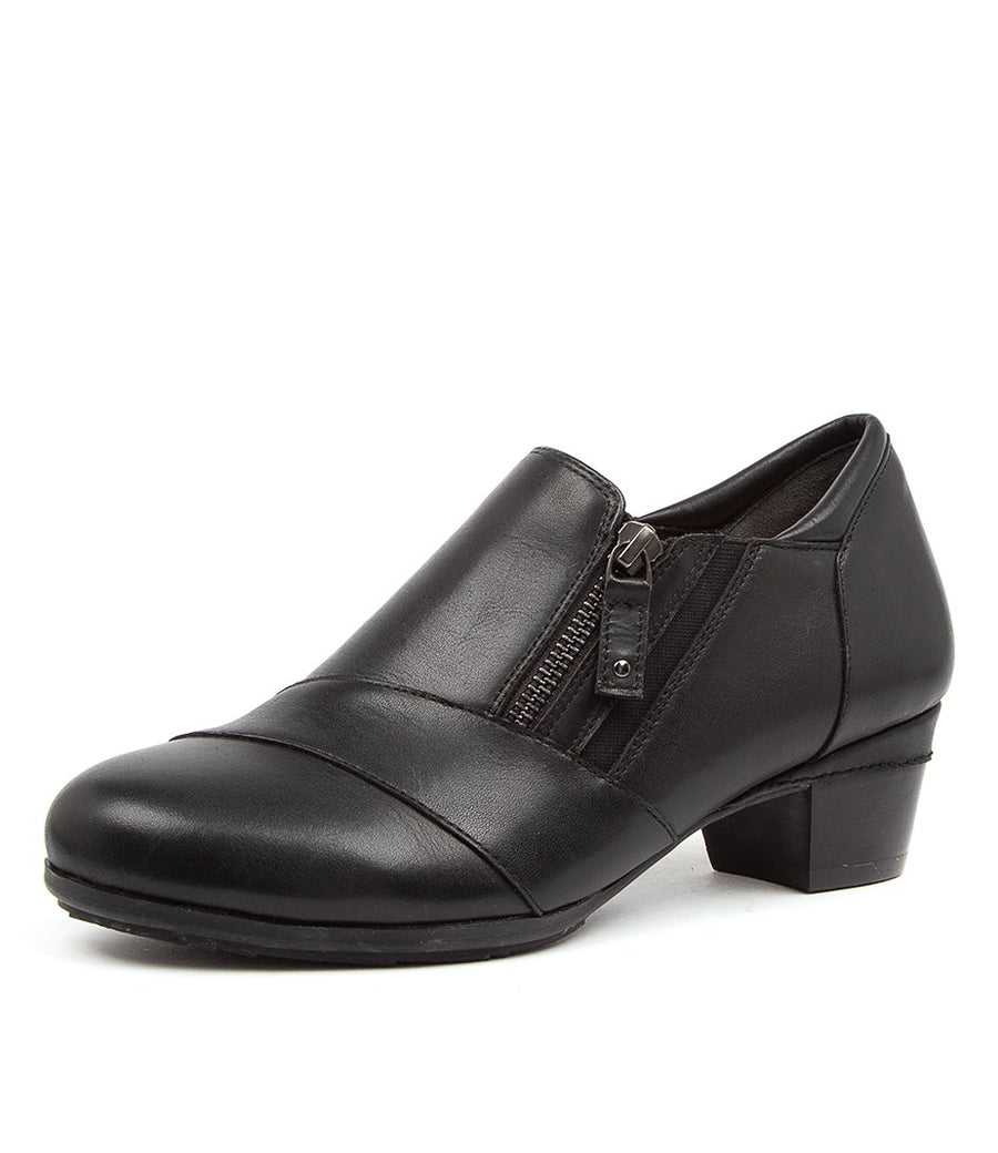 Women's Ziera Camden in Black Leather sku: ZR10076BLALE