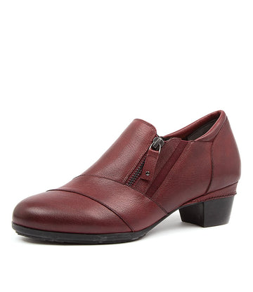 Women's Ziera Camden in Dark Red Leather sku: ZR10076RANLE