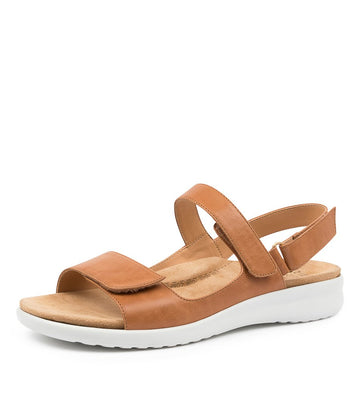 Women's Ziera Benji in Tan White Sole Leather sku: ZR10096TACLE