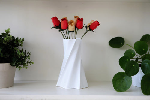 Twisted Thin-Walled Flower Vase -  3dvaseshop.myshopify.com