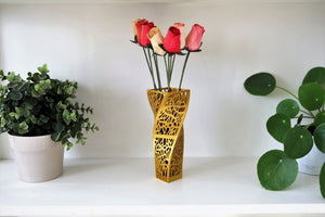Geometric Spiraled Square-style Centerpiece and Dry Flower Vase -  3dvaseshop.myshopify.com