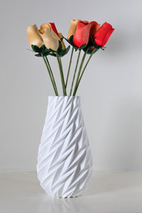 White Vase with wooden flowers