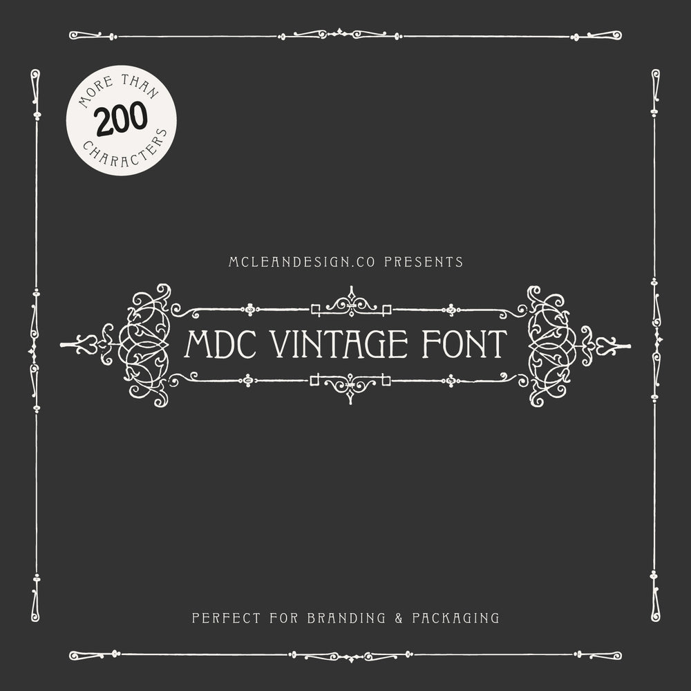 Mclean Design Co | MDC Vintage Font - Serif Display Font
