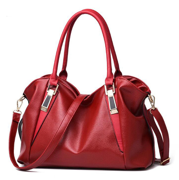 2020 new bucket bag head layer cowhide handbag simple large-capacity hand bag shoulder oblique cross women bag