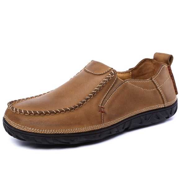 Top quality Genuine leather casual shoes men comfortable loafers men shoes soft breathable outdoor flats driving shoes