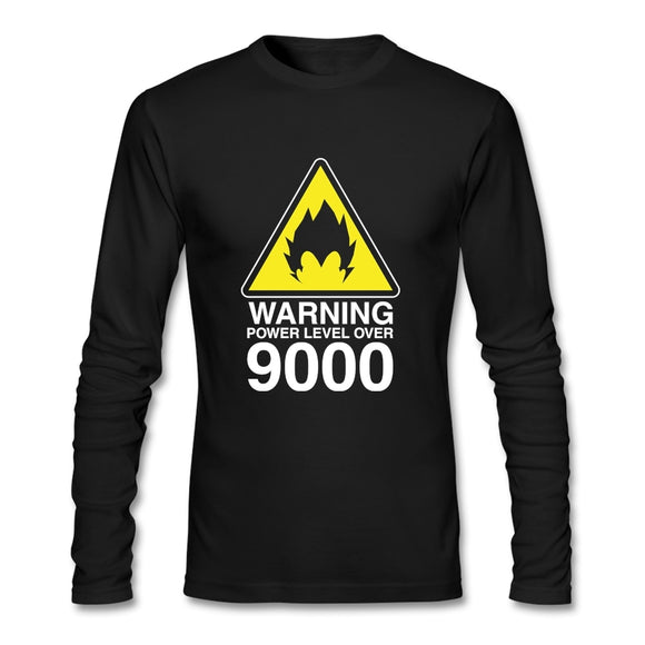 Over 9000 T Shirt Cotton Crewneck Long Sleeve  Brand Clothing Summer Team T Shirts Fitness Men