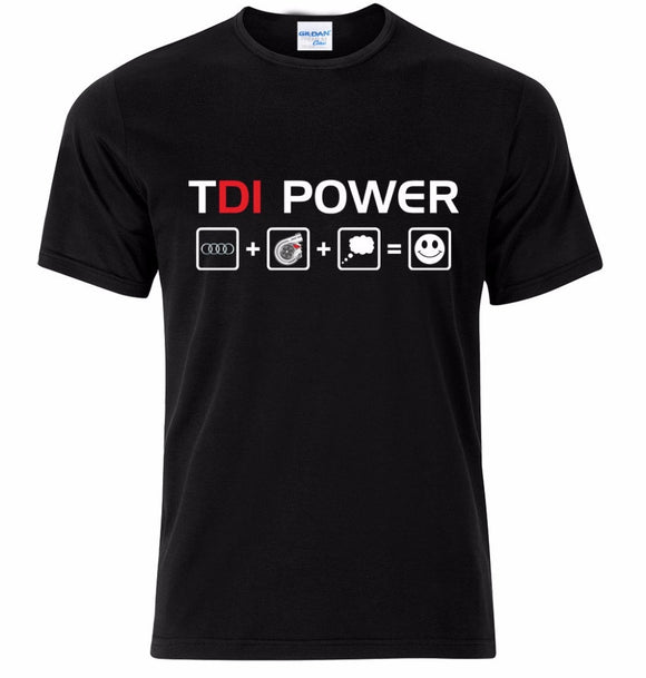 2018 Men T Shirt Fashion Funny Hot Sale Clothing Casual Short Sleeve Tshirts TDI Power  Tee Shirt