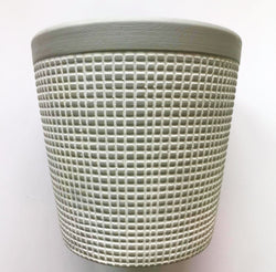 Square Patterned Small Pot