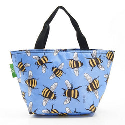 Eco Chic Recycled Lunch Bag - Blue Bees
