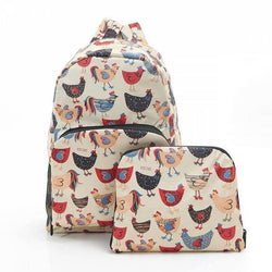 Foldable Backpack Chicken Design