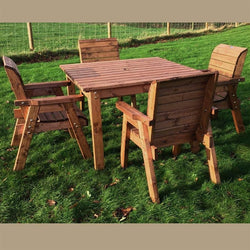 Wooden 4 Seater Dining Set Square