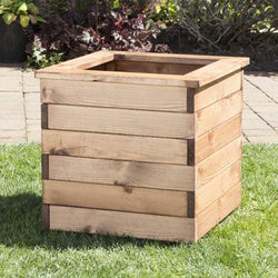 Large Wooden Planter - Square