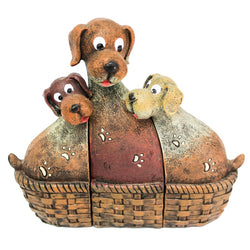 Happy Dog Family Ornament