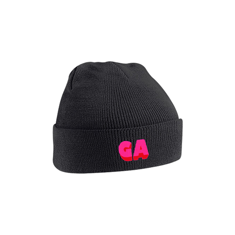 GA Embroidered Beanie Black