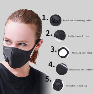 3D High Quality Face Mask Double Filter PM2.5 (Limited Purchase BUY 3 FREE 1) - MosQi