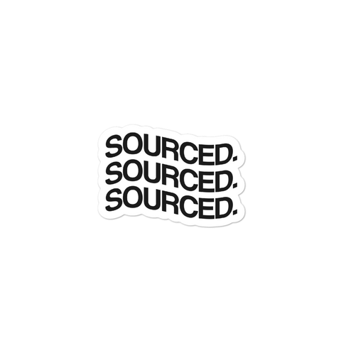 Sourced Wavy Logo Sticker