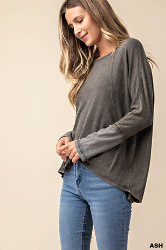 CHARCOAL BURNOUT LONG SLEEVE