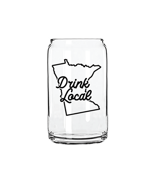 DRINK LOCAL CAN GLASS