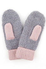 Load image into Gallery viewer, KNITTED SHERPA WINTER GLOVES