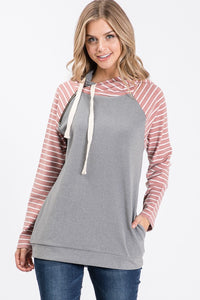 HEATHER & ROSE DOUBLE HOODIE (S-3X)