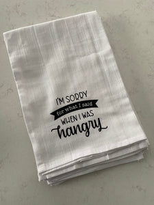 FUNNY DISH TOWELS (multiple saying available)