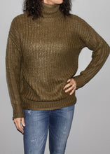 Load image into Gallery viewer, TURTLE NECK SWEATER TUNIC TOP