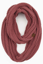 Load image into Gallery viewer, RIBBED KNIT INFINITY SCARF