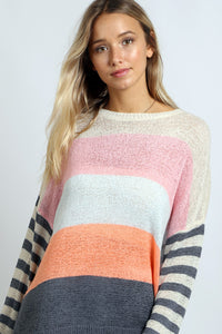 STRIPE SUMMER SWEATER