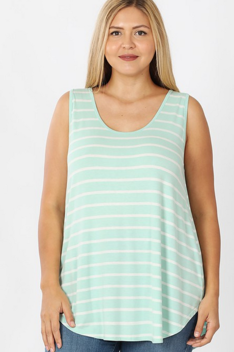 MINT & IVORY STRIPE TANK